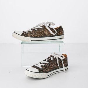 Converse All Star Low Top Sneakers Black Gold Girl